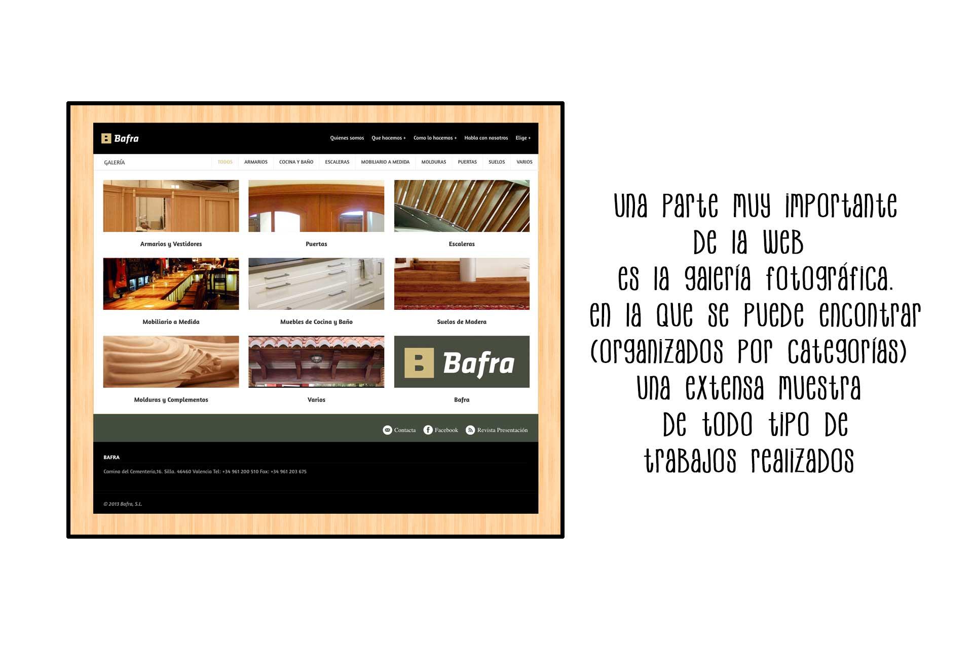 Página web Bafra categorías | The Superway Webs