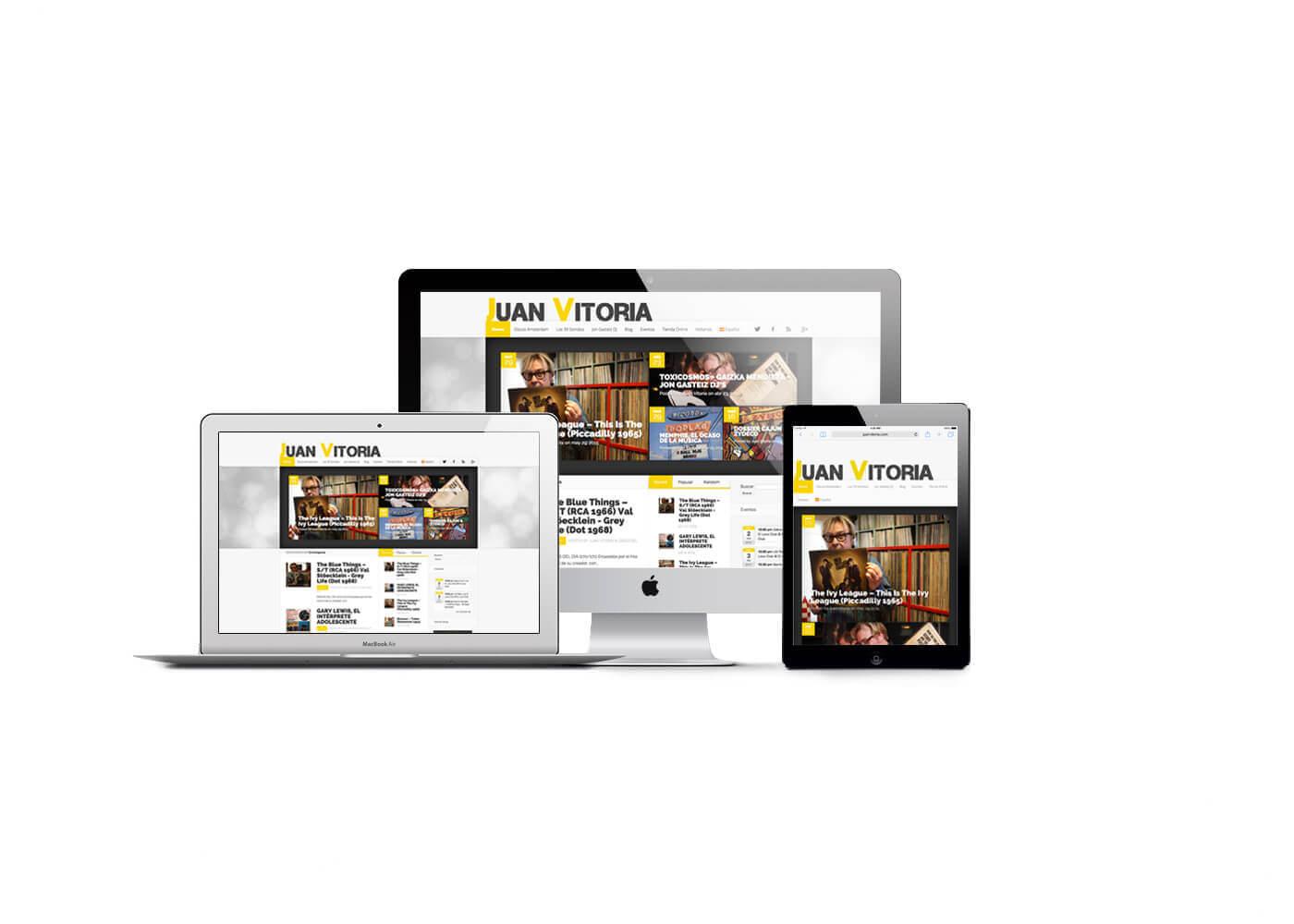 Página web Juan Vitoria (Discos Amsterdam ) | The Superway Webs