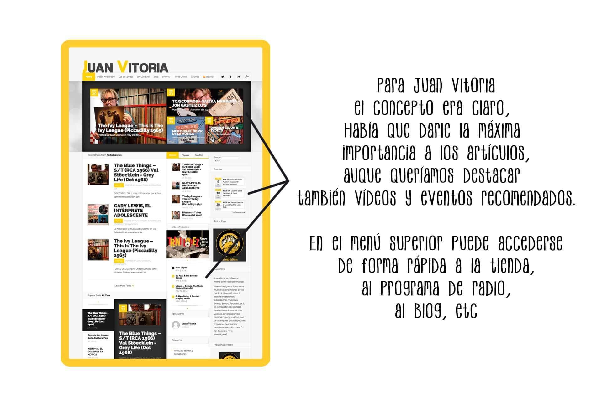 Página web Juan Vitoria (Discos Amsterdam ) noticias | The Superway Webs