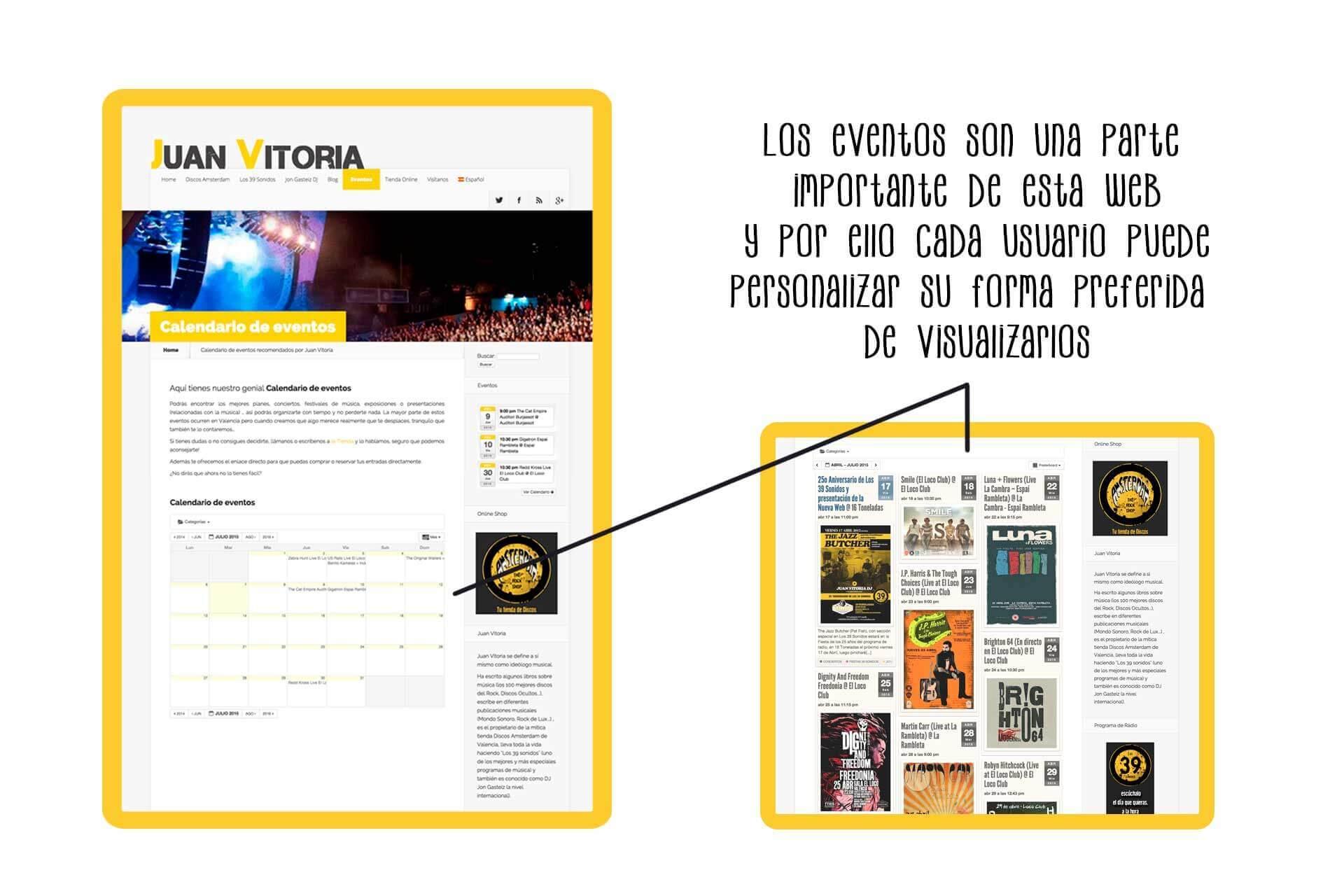 Página web Juan Vitoria (Discos Amsterdam ) eventos | The Superway Webs