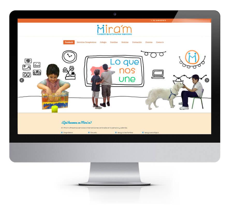 Página web Fundació Mira´m | The Superway Webs