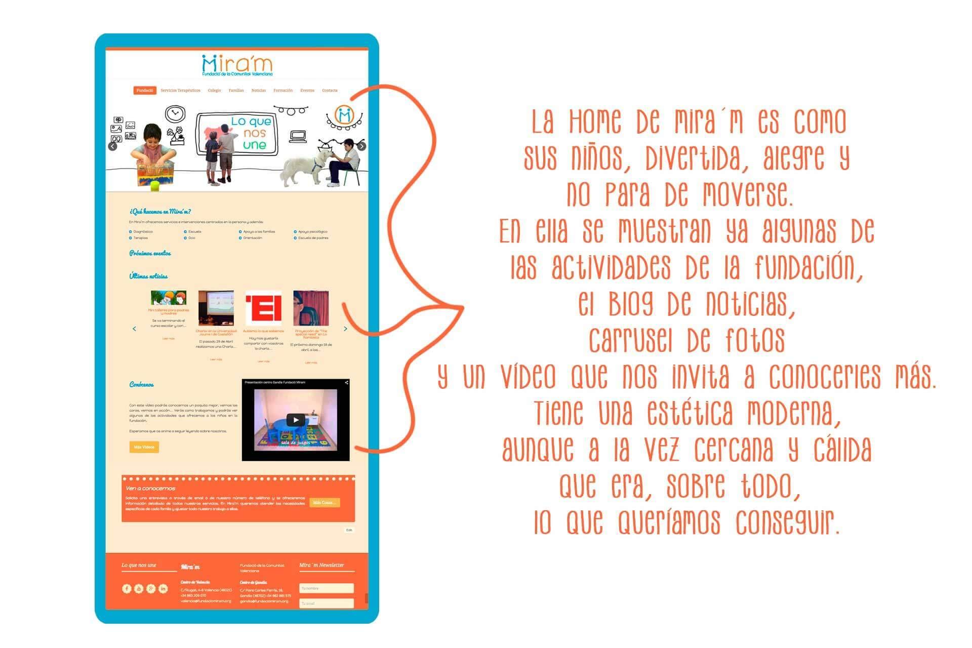 Página web Fundació Mira´m Home | The Superway Webs