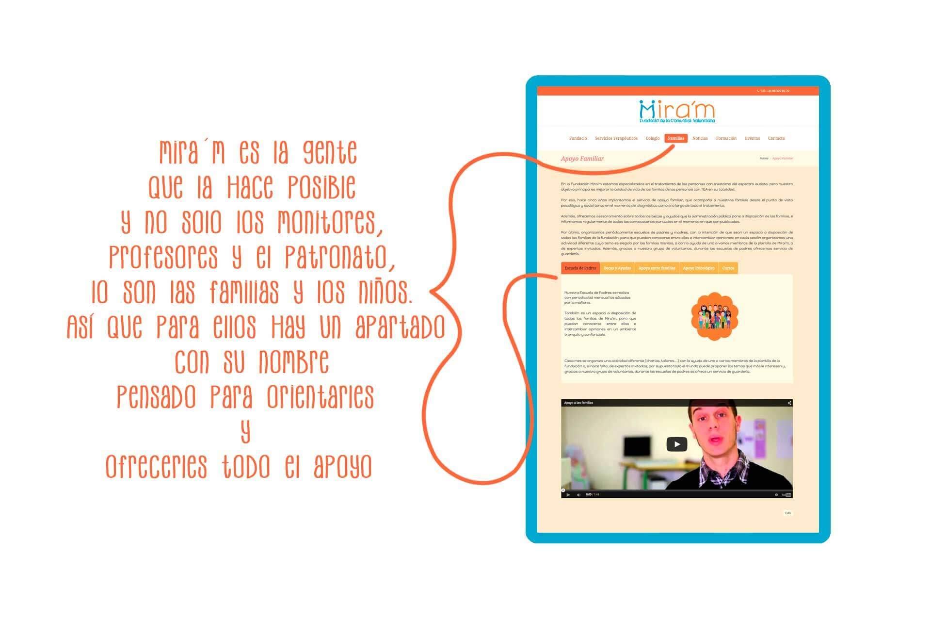 Página web Fundació Mira´m Nosotros| The Superway Webs