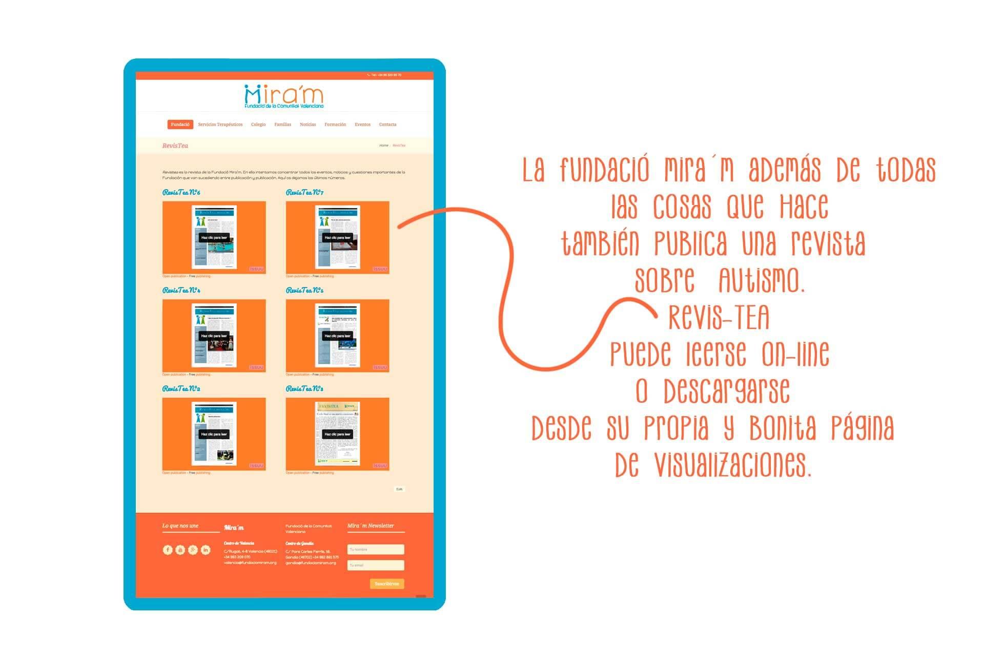 Página web Fundació RevisTea | The Superway Webs
