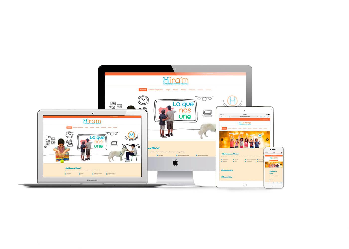 Página web Fundació Mira´m responsive | The Superway Webs