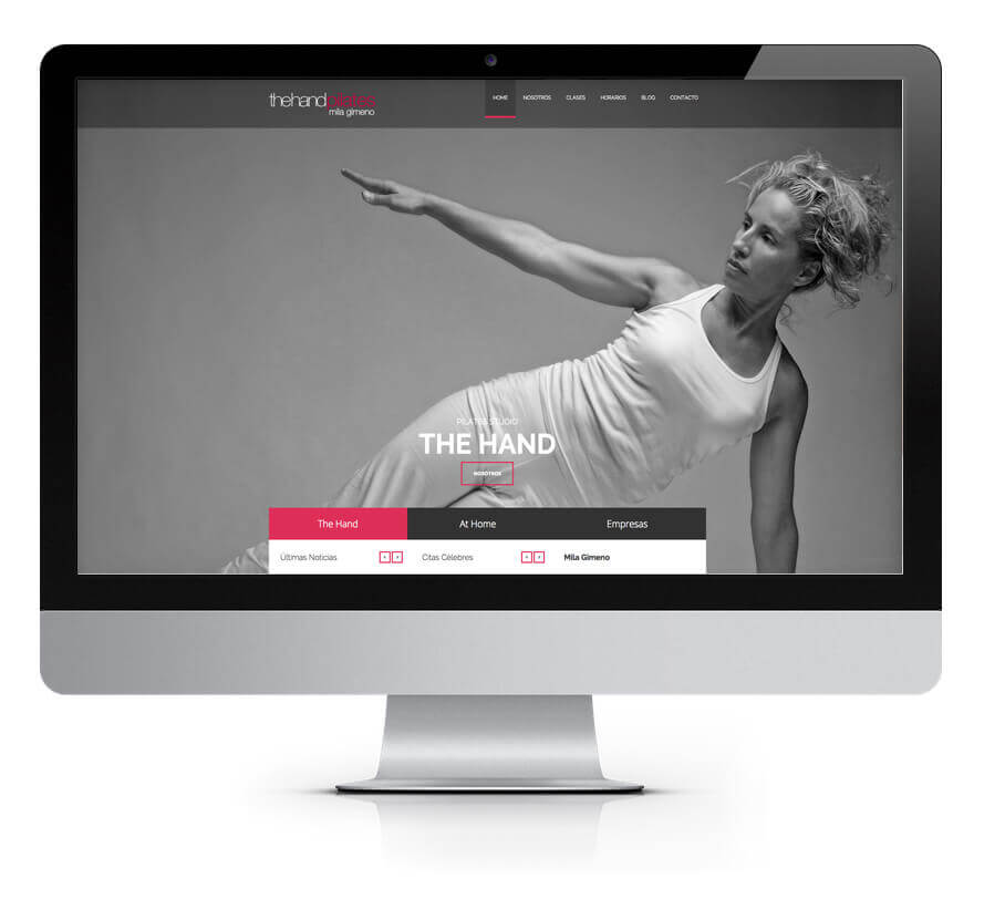 Página web The Hand Pilates | The Superway Webs