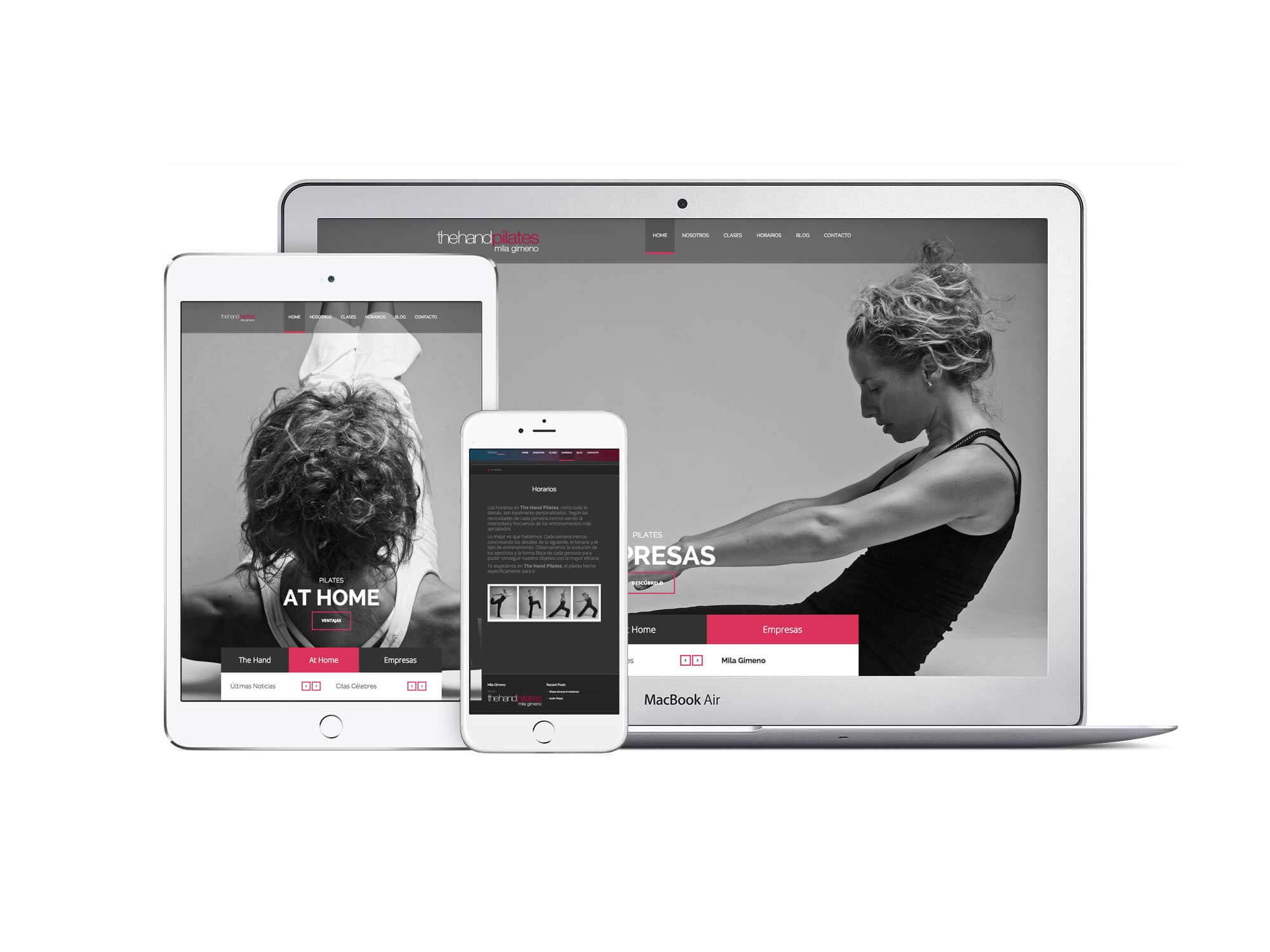 Página web The Hand Pilates responsive | The Superway Webs