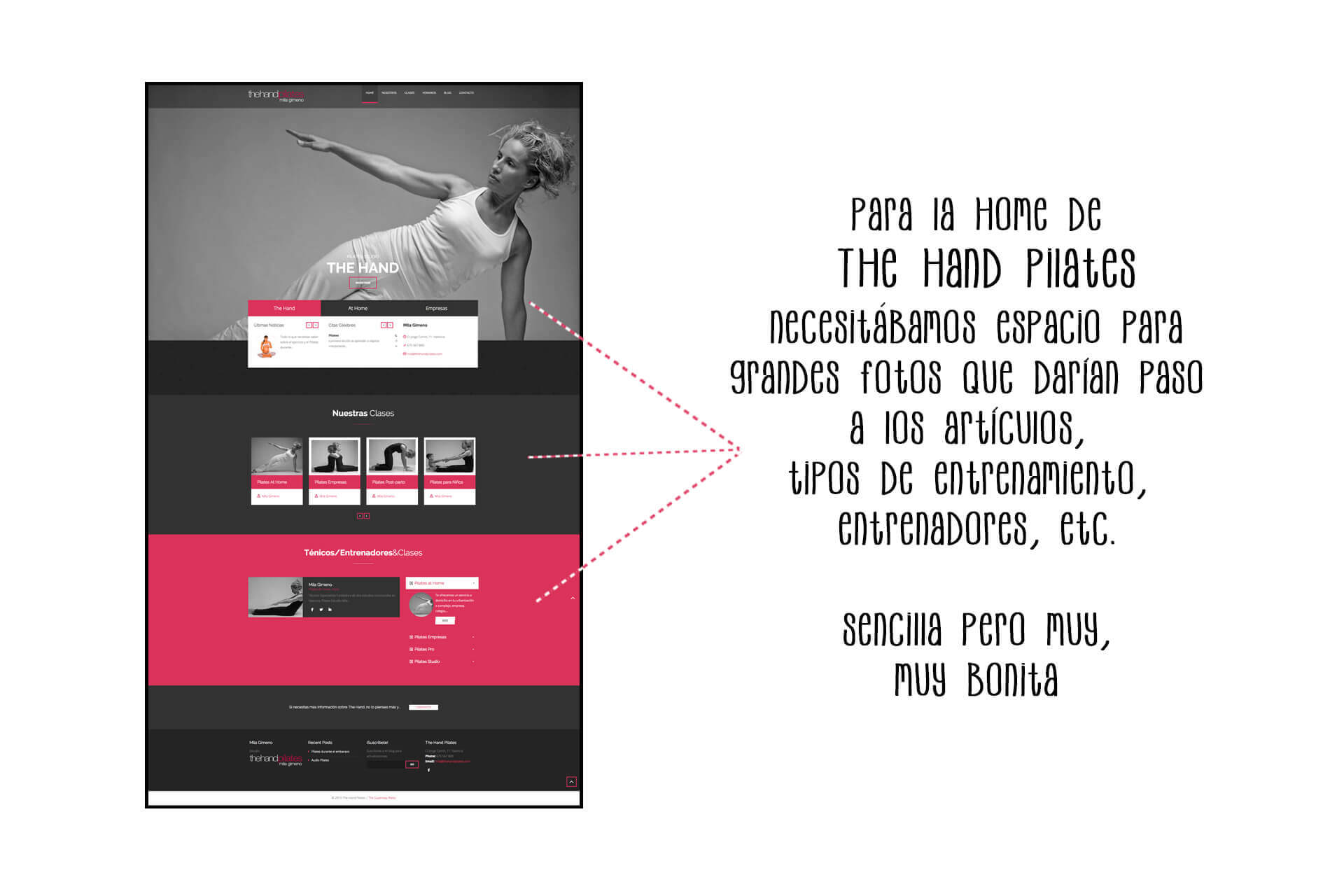 Página web The Hand Pilates Home | The Superway Webs