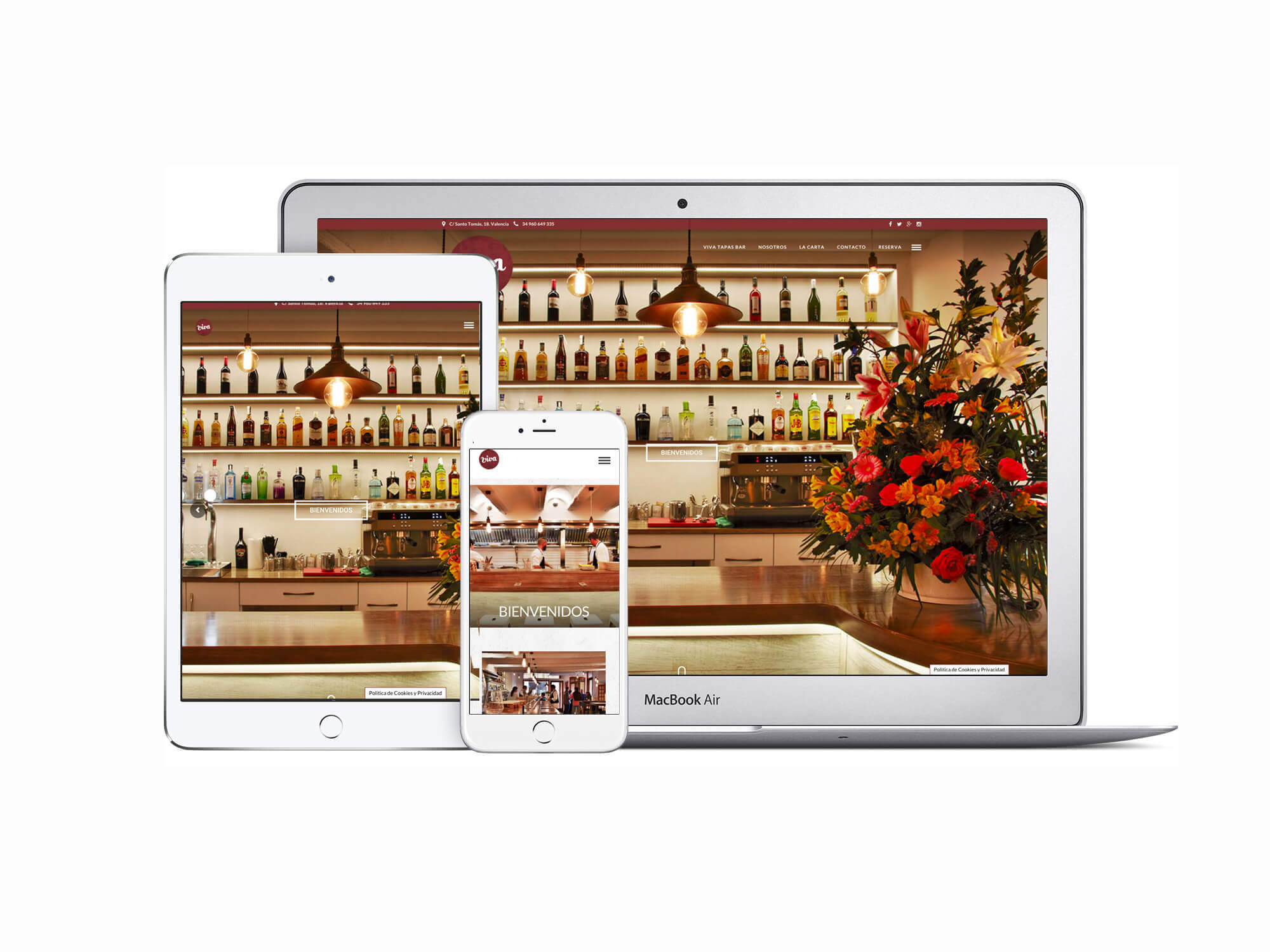 Página web Restaurante Viva Tapas Bar responsive   The Superway Webs