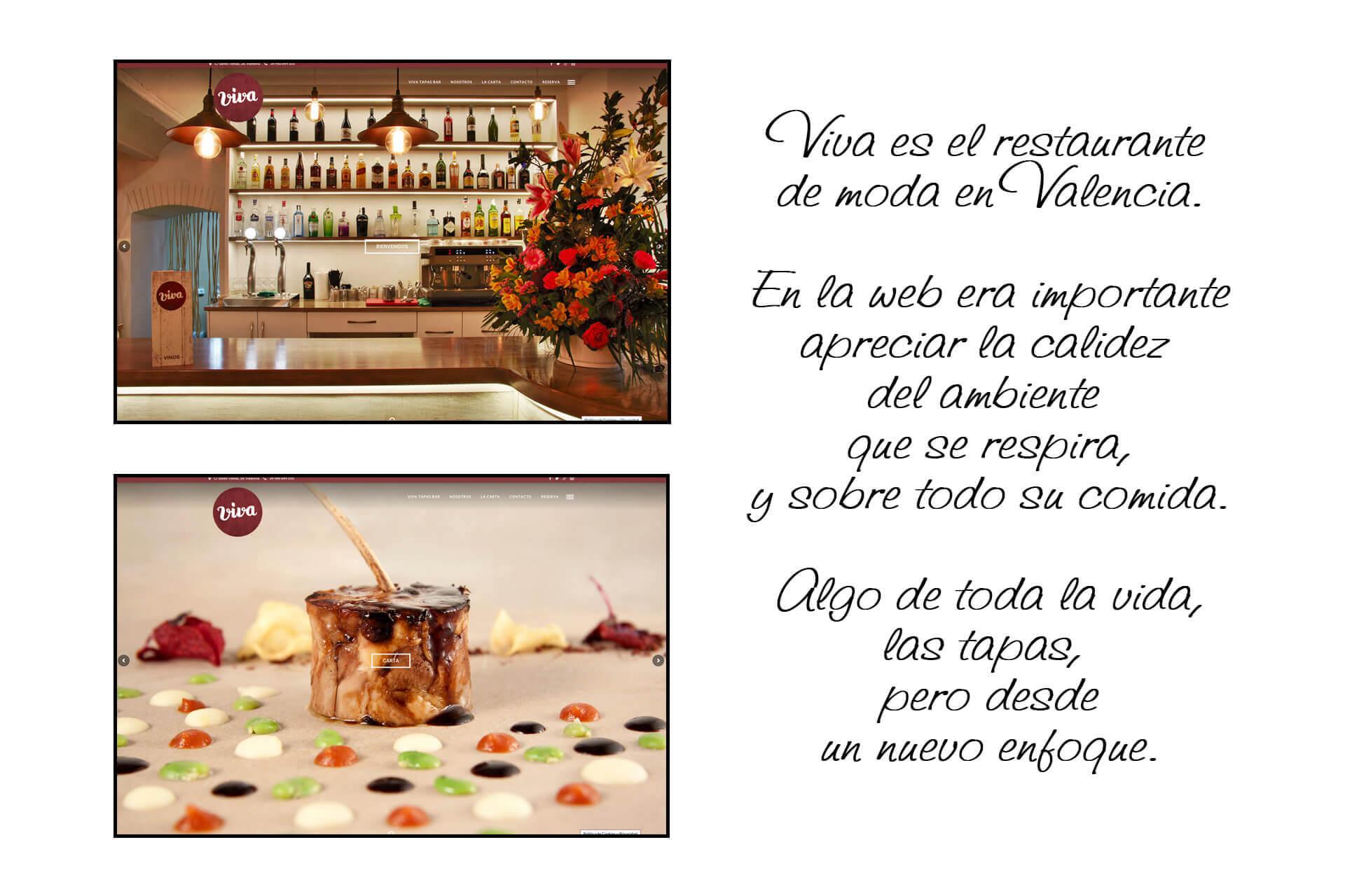 Página web Restaurante Viva Tapas Bar Home  The Superway Webs
