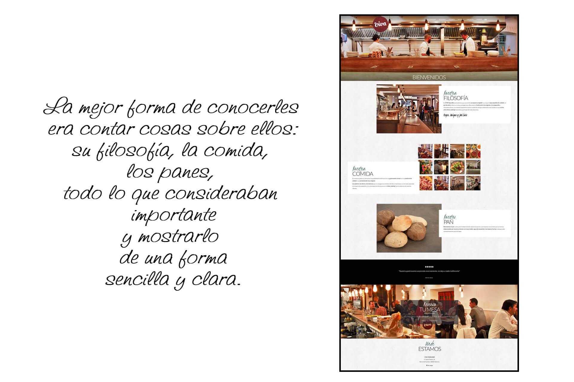 Página web Restaurante Viva Tapas Bar Nosotros   The Superway Webs