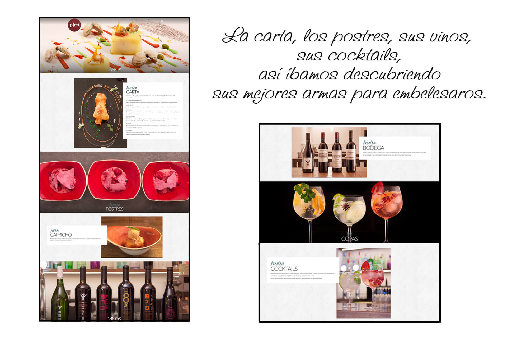 Página web Restaurante Viva Tapas Bar carta   The Superway Webs