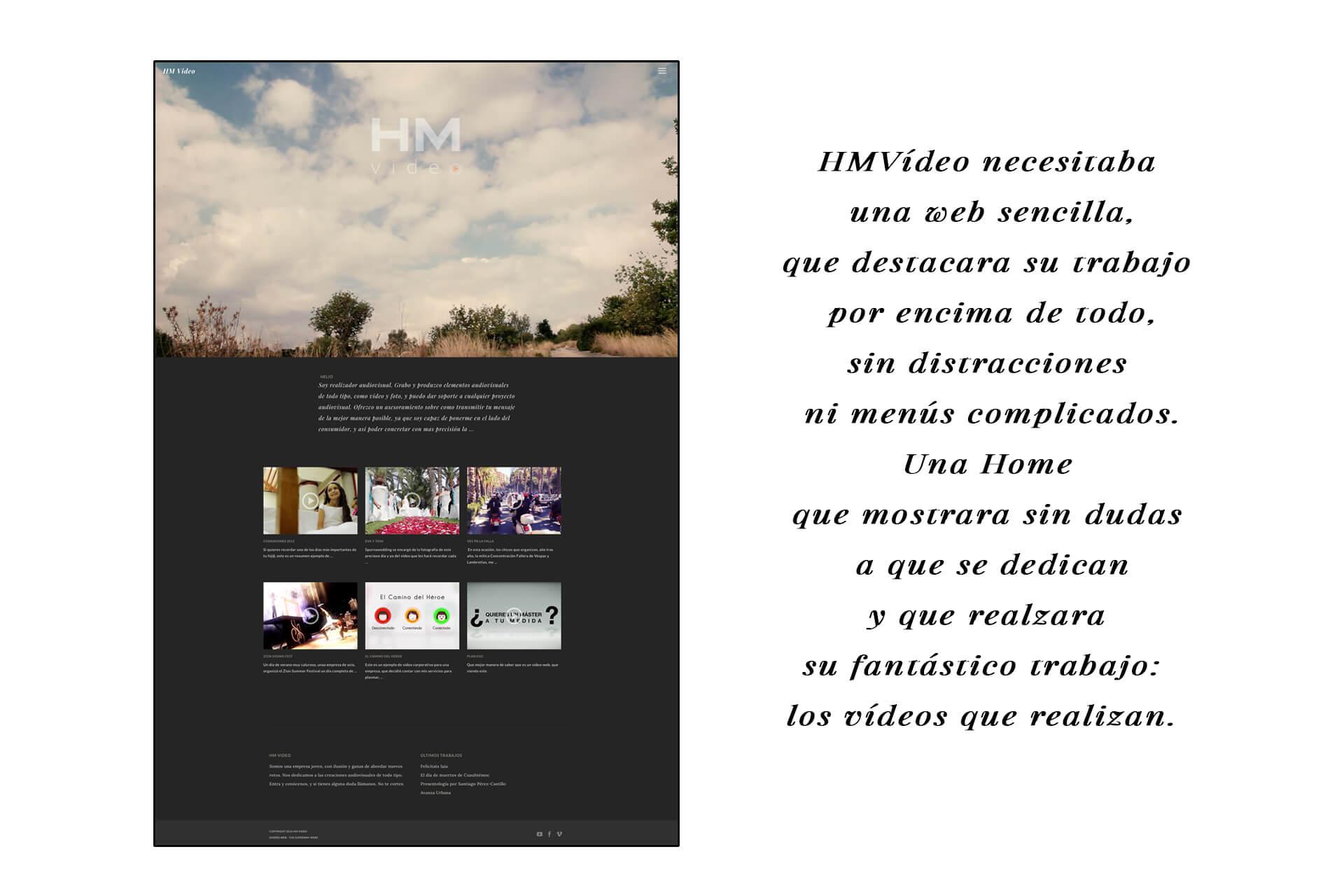 Página web HM Vídeo Home | The Superway Webs