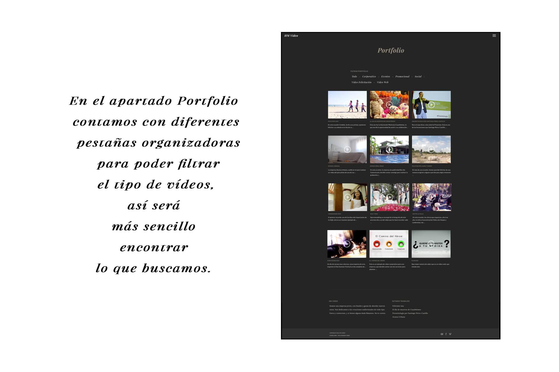 Página web HM Portfolio | The Superway Webs
