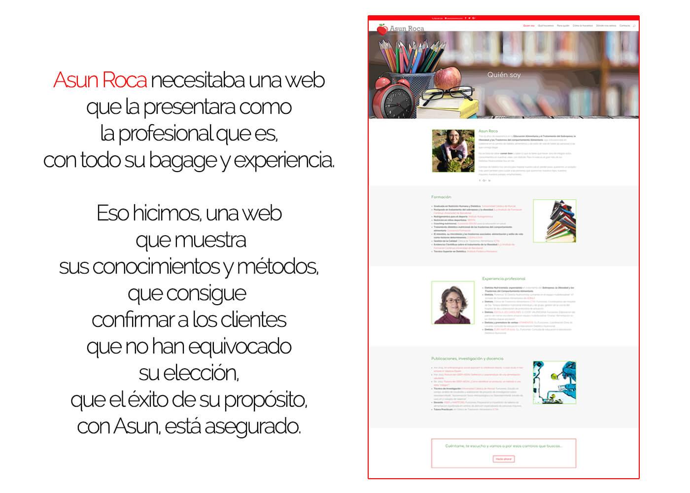 Web Asun Roca dietista nutricionista Quién Soy | The Superway Webs