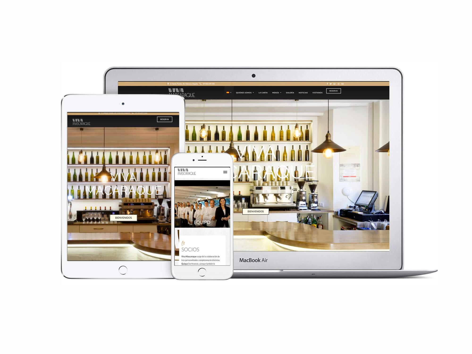 Página web Restaurante Viva Mascaraque | The Superway Webs