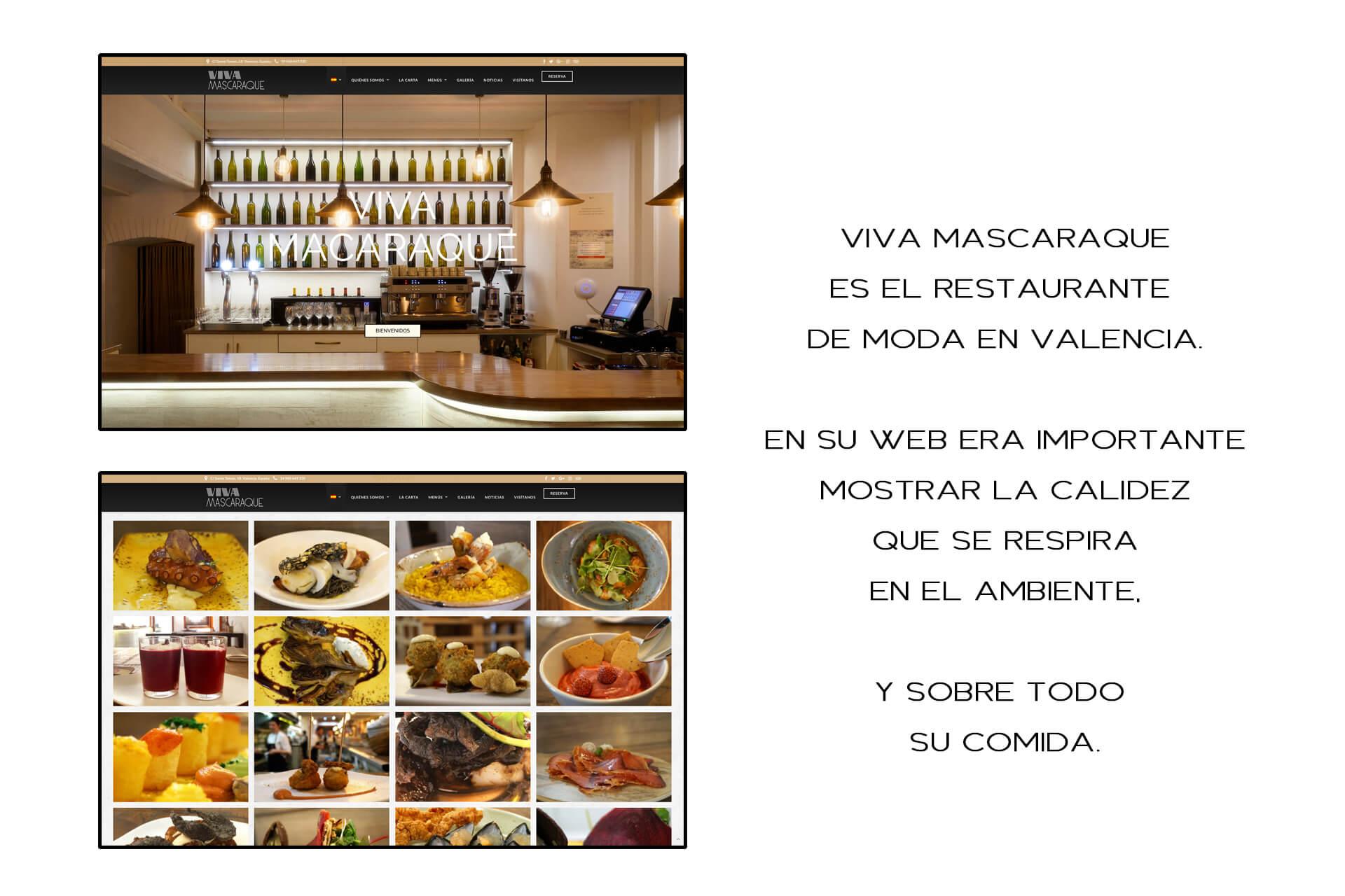 Página web Restaurante Viva Mascaraque Galería | The Superway Webs