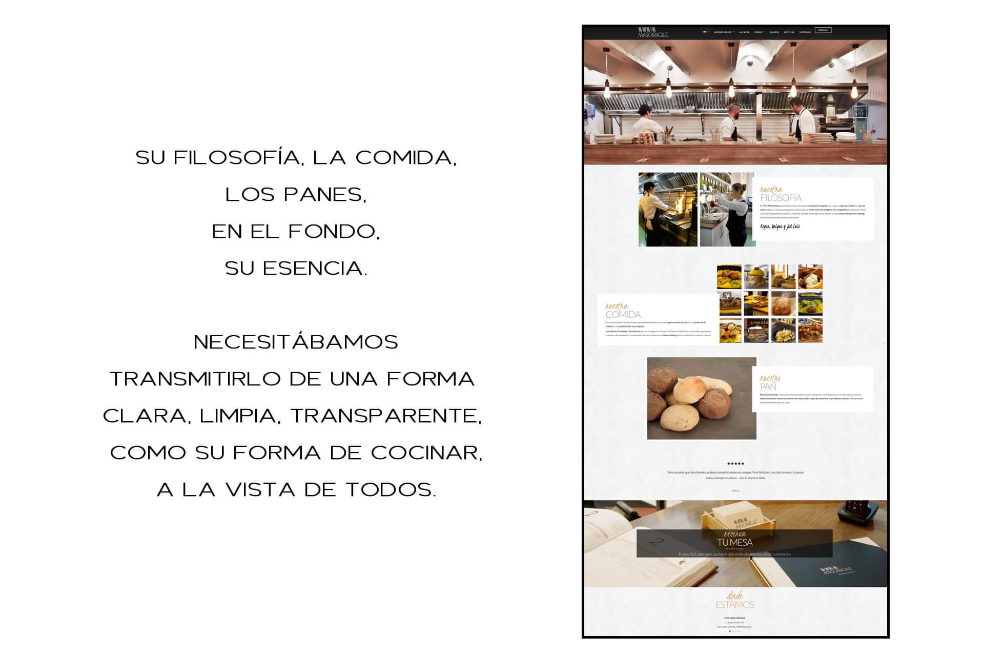 Página web Restaurante Viva Mascaraque Nosotros | The Superway Webs