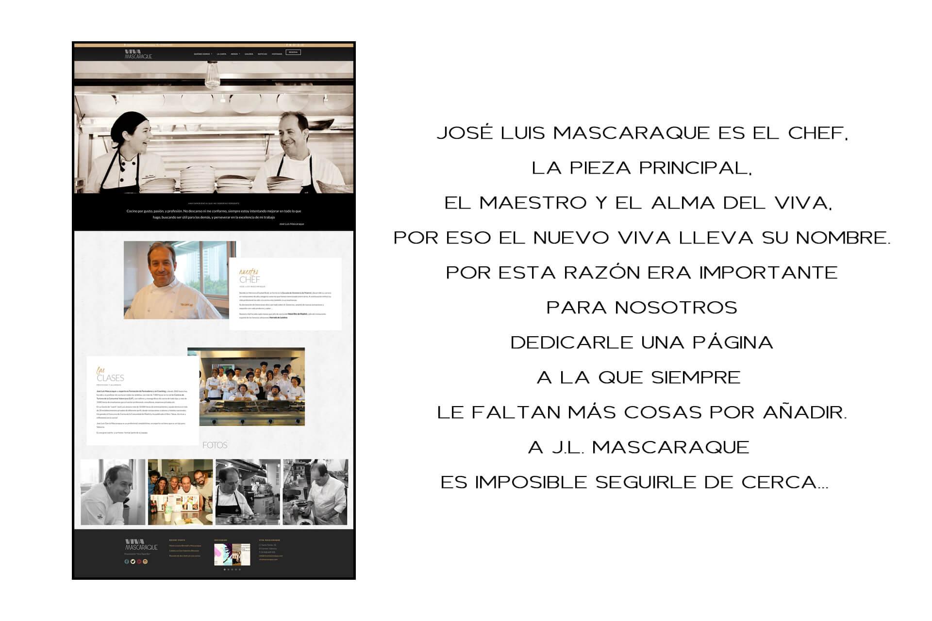 Página web Restaurante Viva Mascaraque El Chef | The Superway Webs