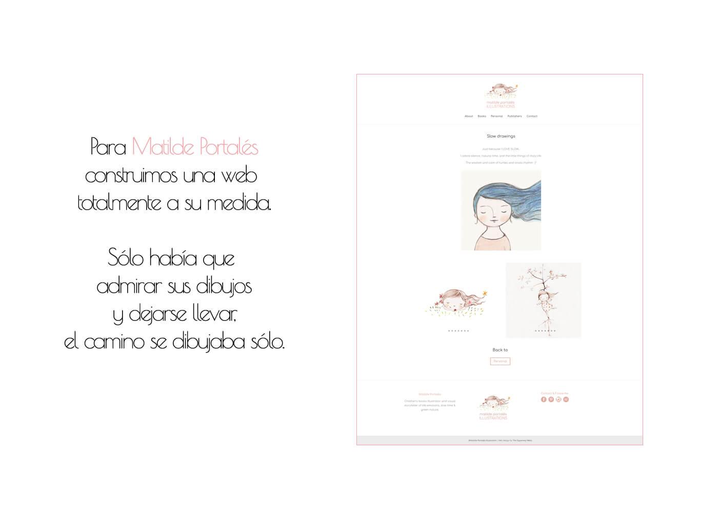 Web Matilde Portalés Illustration Personal | The Superway Webs