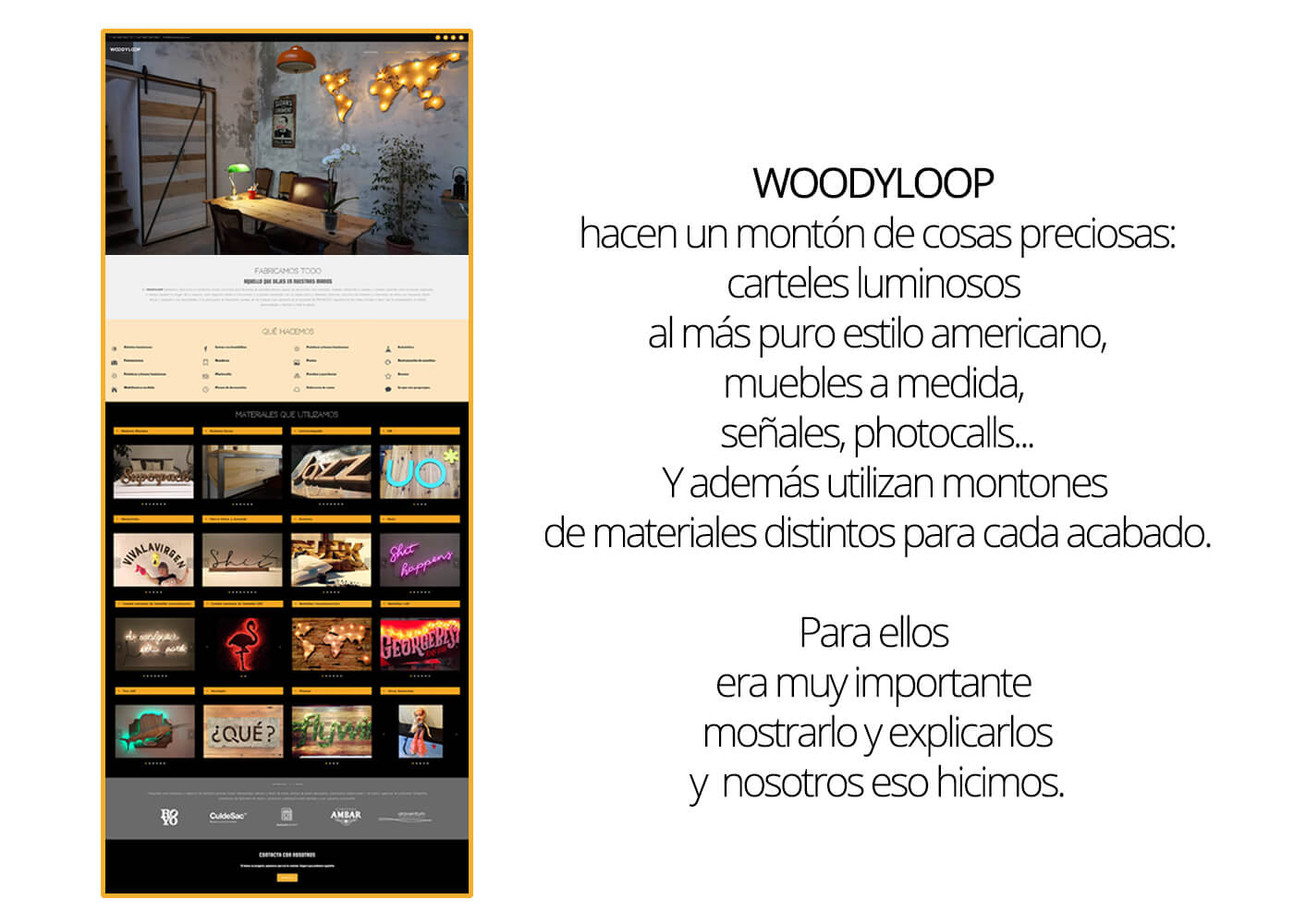 Web Woodyloop Servicios | The Superway Webs