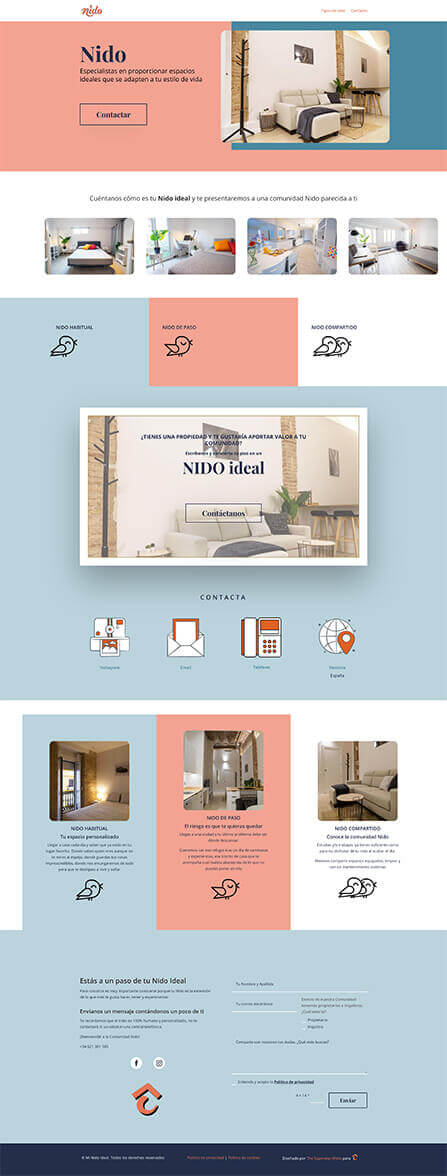 Diseño web Mi Nido Ideal