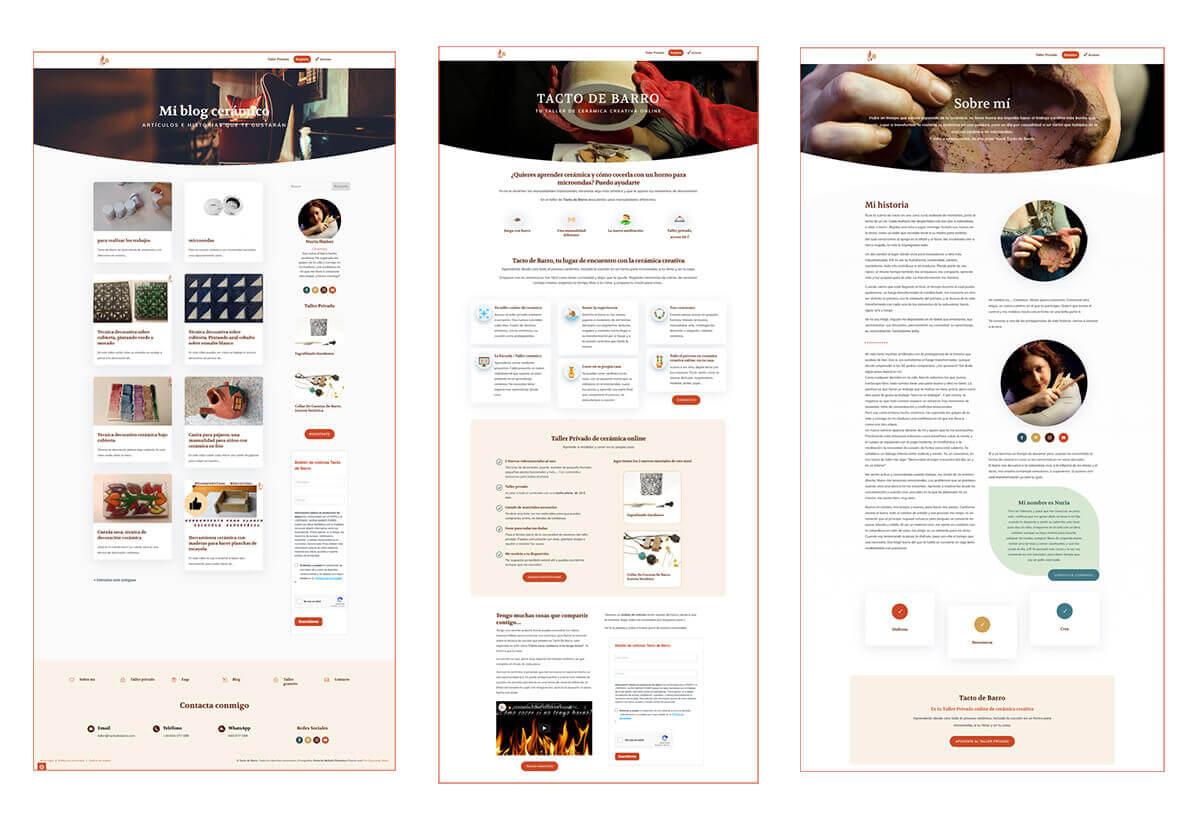 Porfolio 1 Diseño Web Tacto de Barro