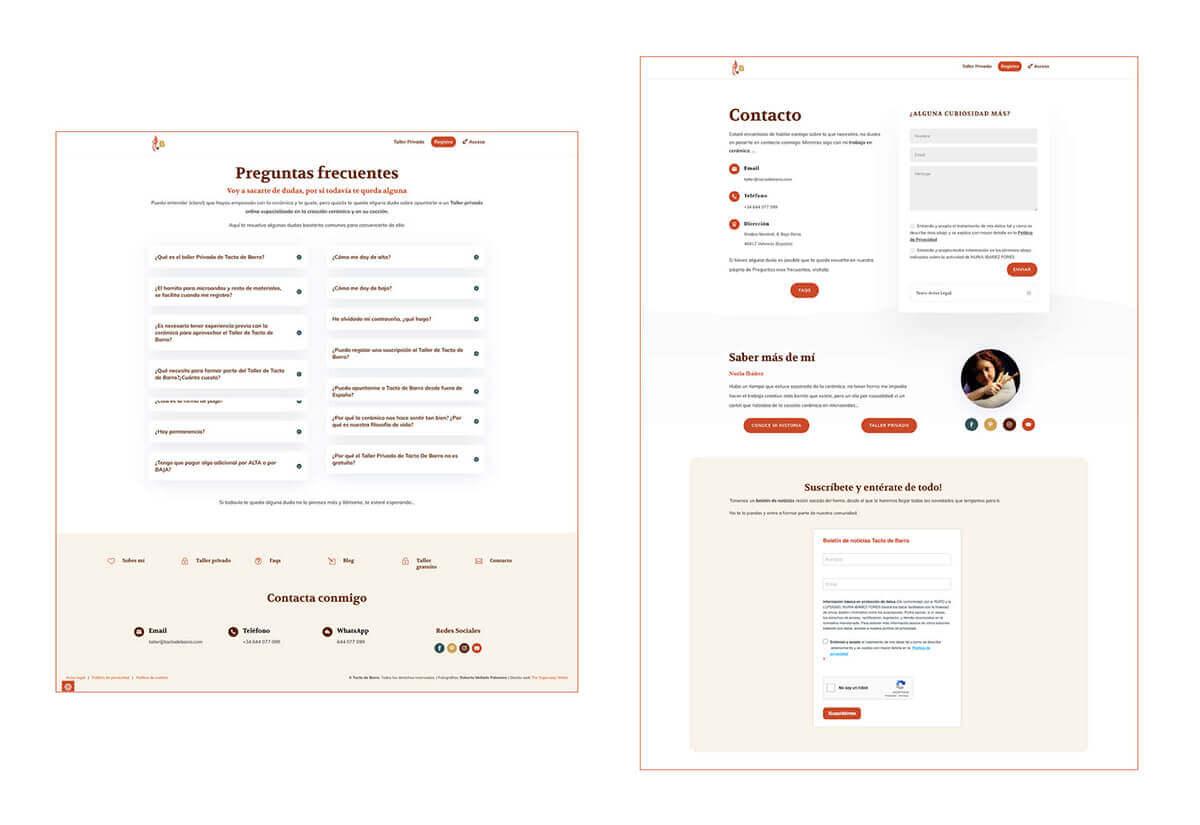 Porfolio 2 Diseño Web Tacto de Barro