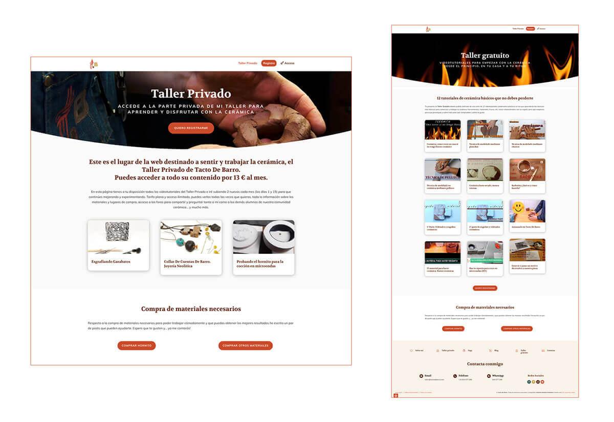Porfolio 3 Diseño Web Tacto de Barro