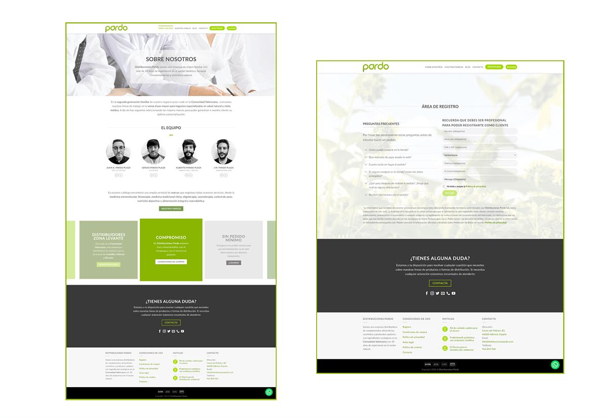 Portfolio 1 Diseño Web Distribuciones Pardo