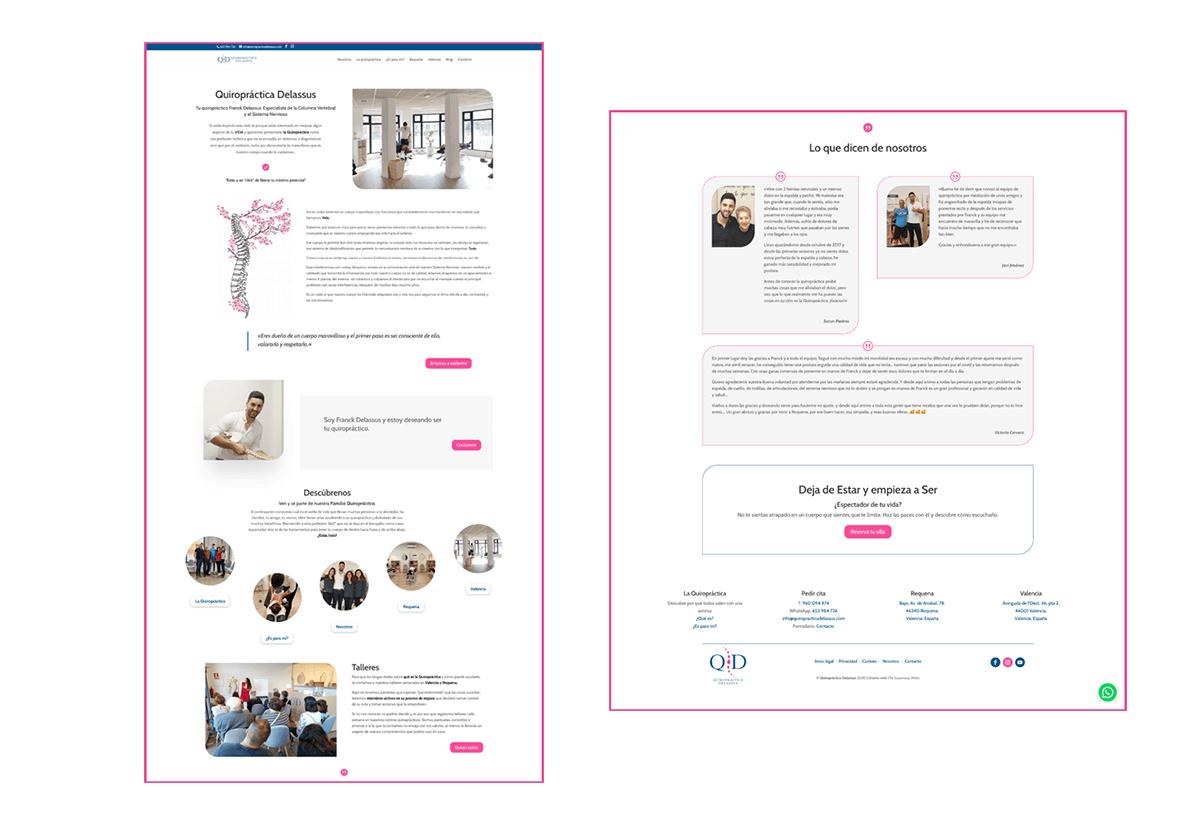 Portfolio 1 Diseño Web Quiropráctica Delassus