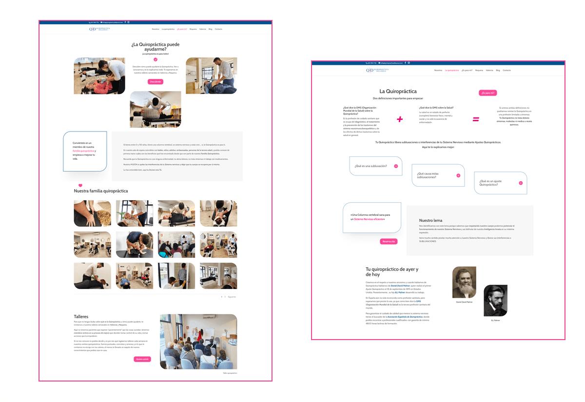 Portfolio 2 Diseño Web Quiropráctica Delassus