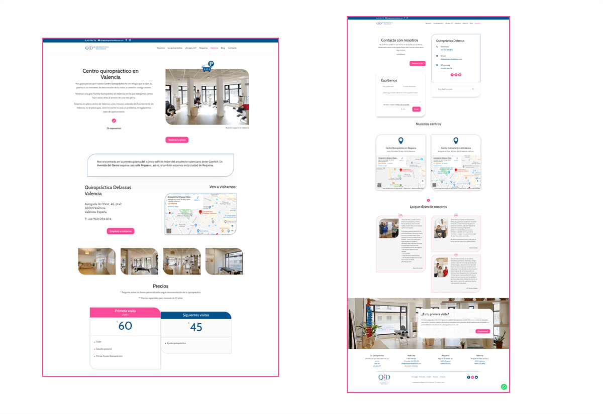 Portfolio 3 Diseño Web Quiropráctica Delassus