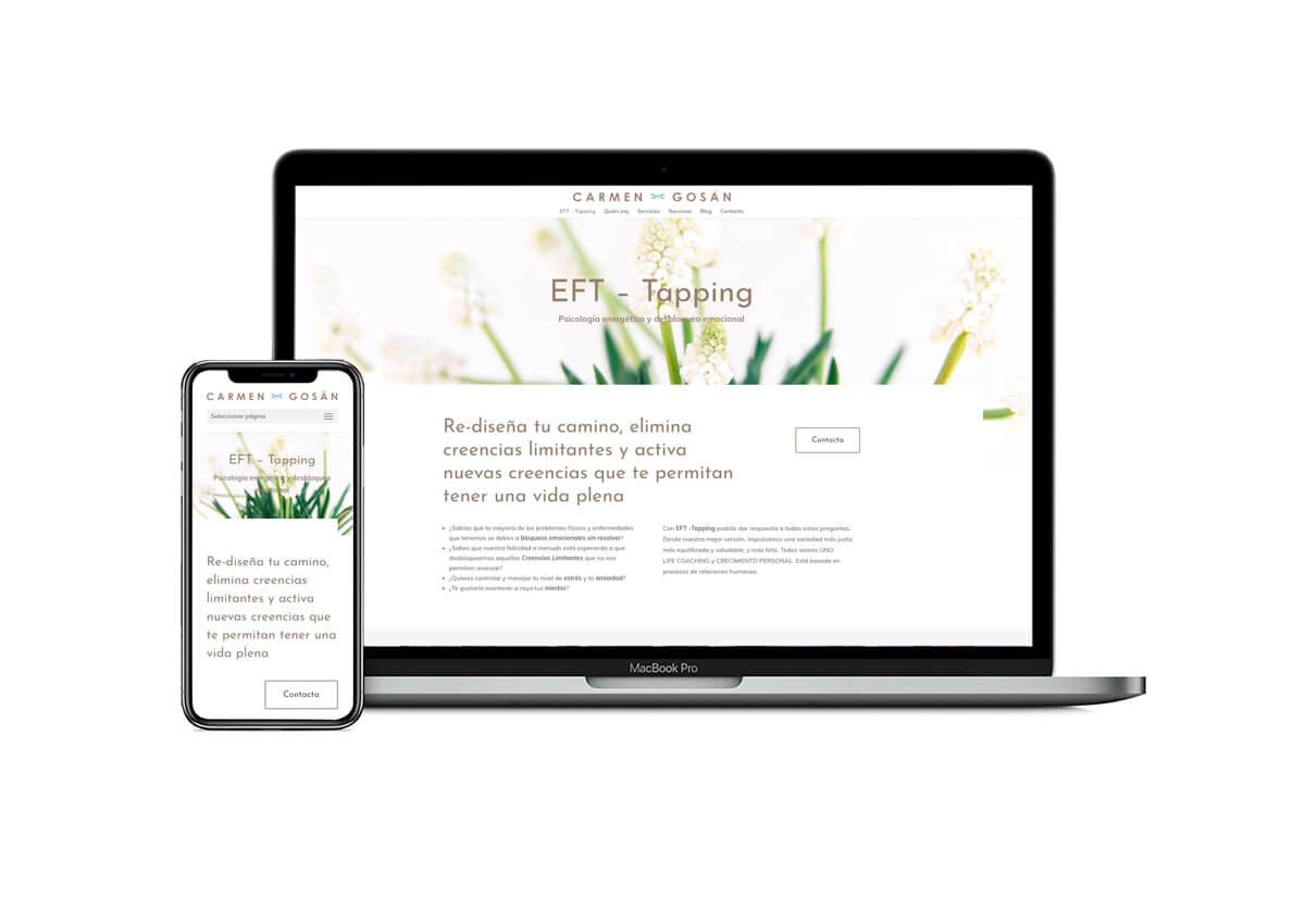 Presentación web Carmen Gosän