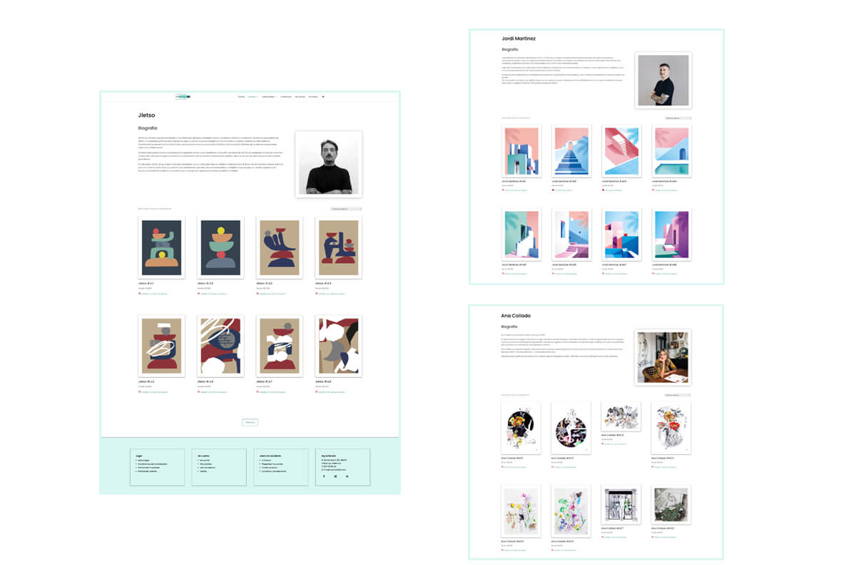 Páginas de Autores Web My Artist Lab