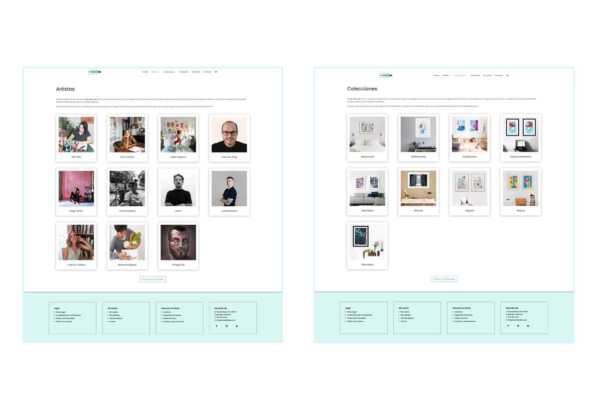 Páginas de Categorías My Artist Lab