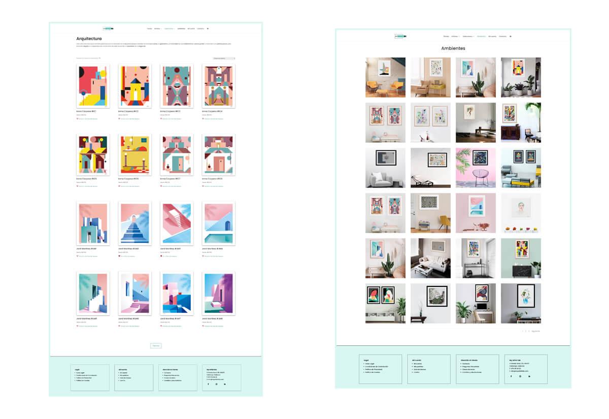 Páginas de Colecciones Web My Artist Lab