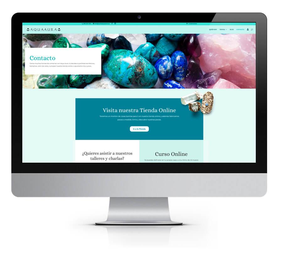Diseño web Carla Aqua Aura
