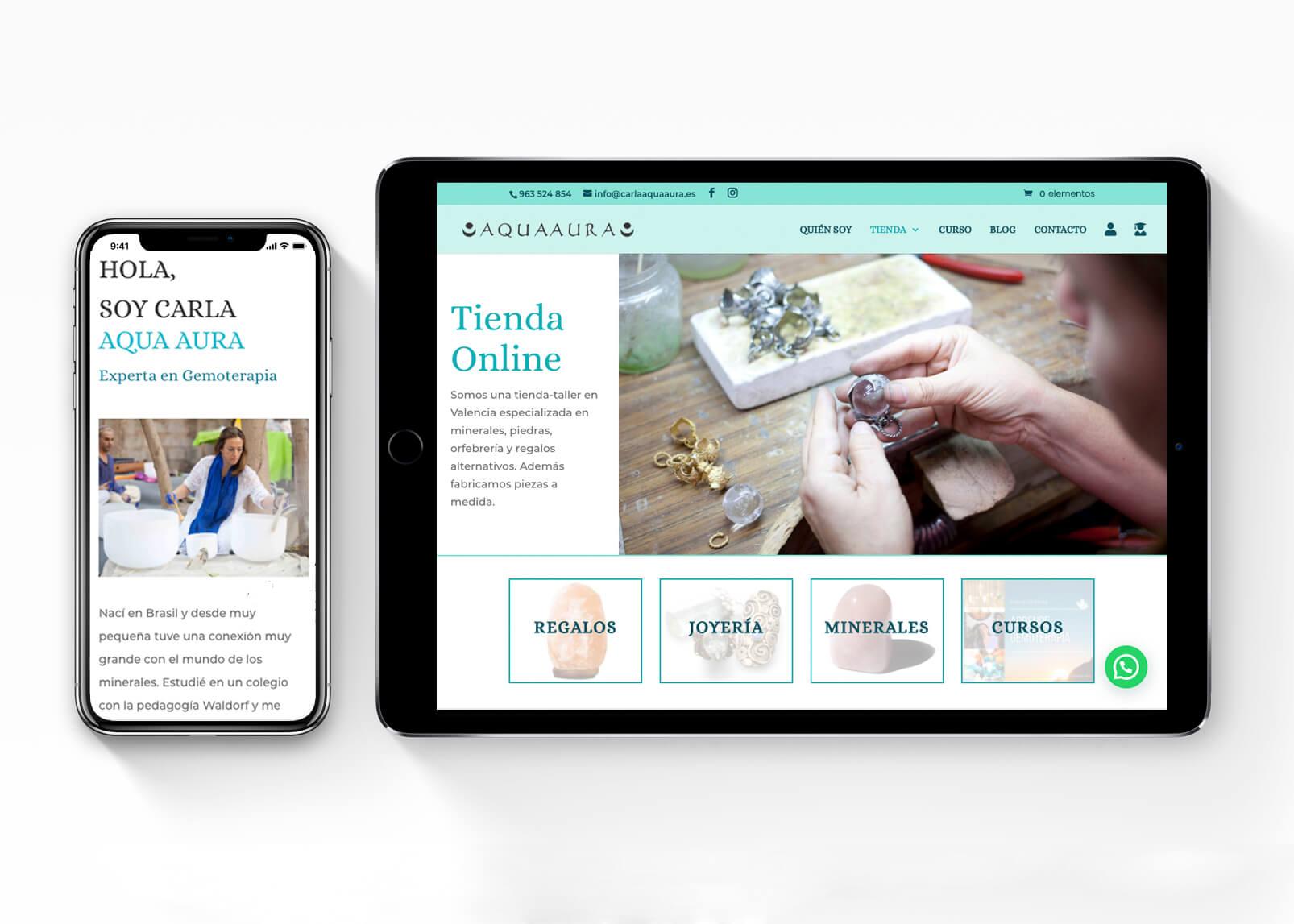Portfolio Diseño web Carla Aqua Aura