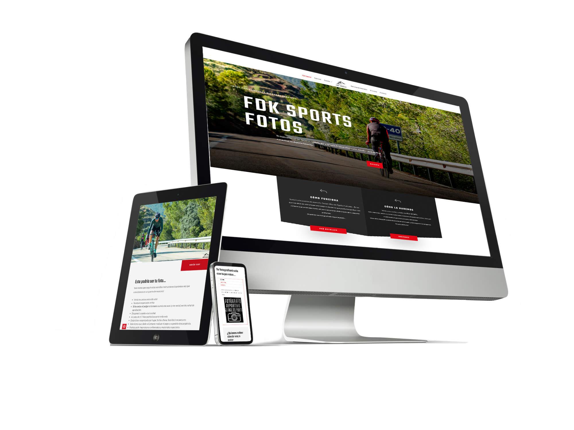 Diseño tienda online para FDK Sports